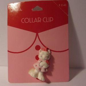 Vintage Hallmark Kitten Collar Clip 1980s